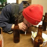 Jerry slurping up some spilled stout.